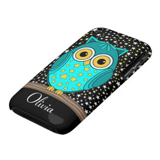 cute turquoise owl iPhone 3 case