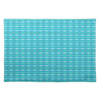 cute turquoise pattern design place mat