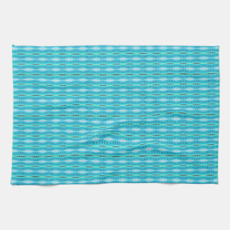 cute turquoise pattern design tea towel