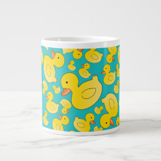 Cute turquoise rubber ducks jumbo mug