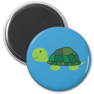 Cute Turtle 6 Cm Round Magnet