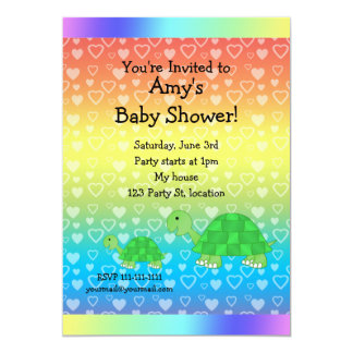 Cute turtle baby shower card