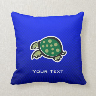 Cute Turtle; Blue Cushion