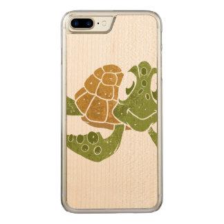 Cute turtle cartoon. carved iPhone 8 plus/7 plus case
