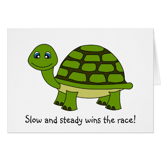 Cute Turtle Cartoon Encouragement Greeting Card