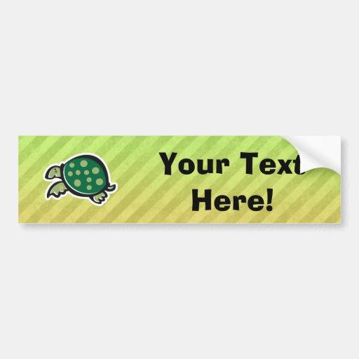 Cute Turtle Design Bumper Stickers