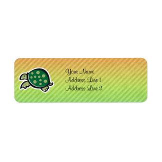 Cute Turtle Design Return Address Label
