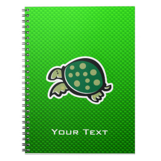 Cute Turtle; Green Notebook