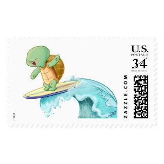Cute Turtle Kawaii Large Postage Stamp