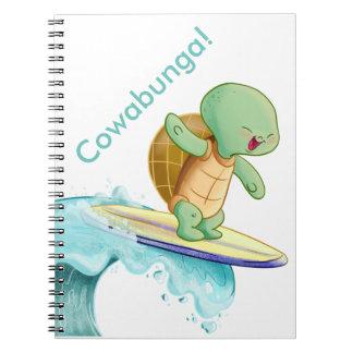 Cute Turtle Kawaii Spiral Photo Notebook