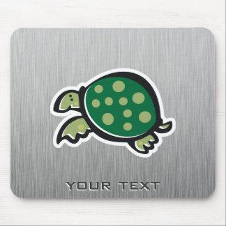 Cute Turtle Metal-look Mouse Pads
