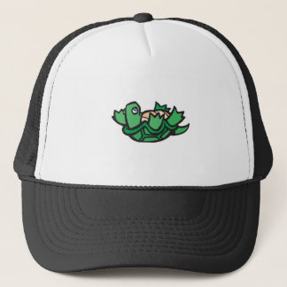 cute turtle on back trucker hat