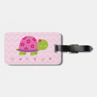 Cute Turtle Pink Luggage Tap - Personalized Luggage Tag