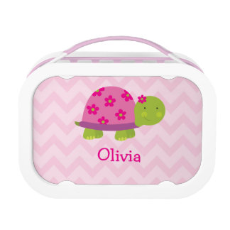 Cute Turtle Pink Personalized Yubo Lunchbox