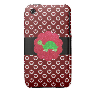 Cute turtle polka dots red iPhone 3 Case-Mate cases