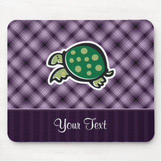 Cute Turtle Purple Mouse Pads