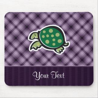 Cute Turtle Purple Mouse Pads