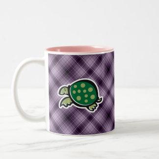 Cute Turtle; Purple Mugs