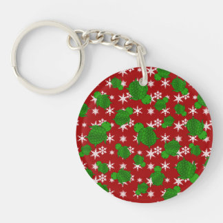 Cute turtle red snowflakes acrylic keychains