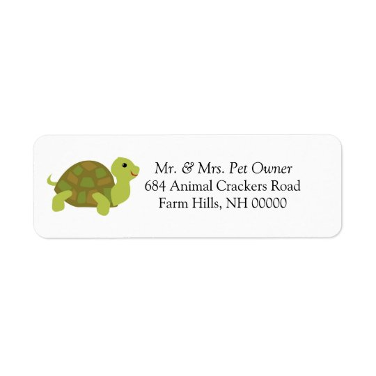Cute Turtle  Return Address Labels Stickers