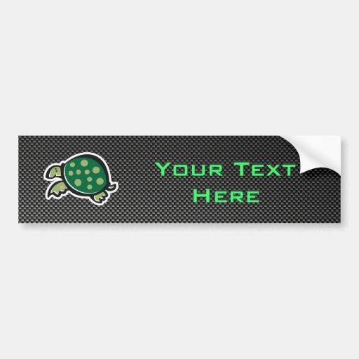 Cute Turtle; Sleek Bumper Sticker