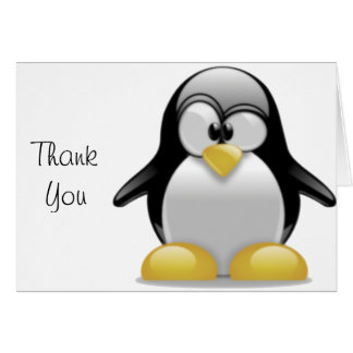 Cute Tux Penguin Funny Cartoon Art Card