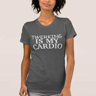 Cute Twerking Is My Cardio Fitted Racerback Tank