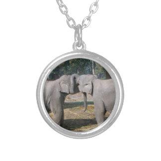 Cute Twin Baby Asian Elephants Best Friends Custom Jewelry