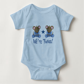 Cute Twin Boy Mice Gift Baby Bodysuit