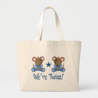 Cute Twin Boy Mice Gift Jumbo Tote Bag