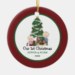 Cute Twins 1st Christmas Personalised