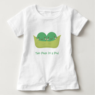 Cute Two Peas in a Pod For Baby Twins Baby Bodysuit