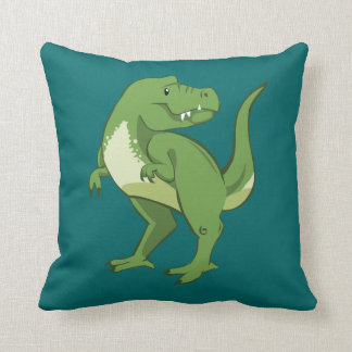 Cute Tyrannosaurus Rex Cartoon Cushion