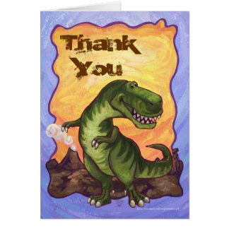 Cute Tyrannosaurus Rex Thank You Card