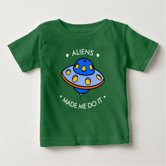 Cute UFO | Funny Aliens Baby T-Shirt