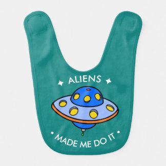 Cute UFO | Funny Aliens Bib