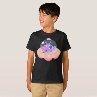 Cute UFO Squid Alien Purple Creature Kids T-Shirt