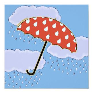Cute Umbrella Invitations