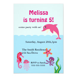 Dolphin birthday party invitations announcements zazzle cute under the sea dolphin birthday party invite filmwisefo Gallery
