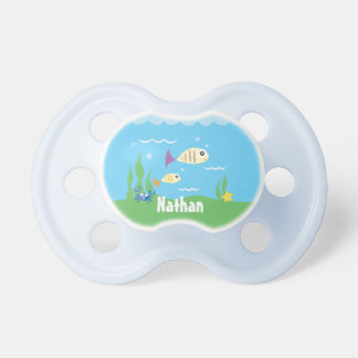 Cute Under The Sea Ocean Fish Starfish And Crab Pacifiers