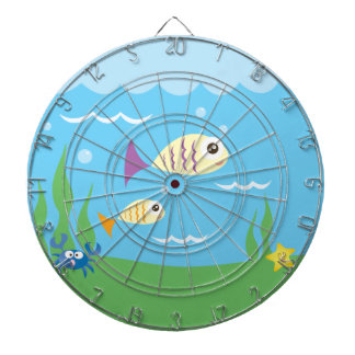 Cute Underwater Ocean Sea Aquarium Dartboard