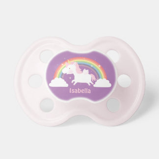 Cute Unicorn and Rainbow For Baby Girls Dummy