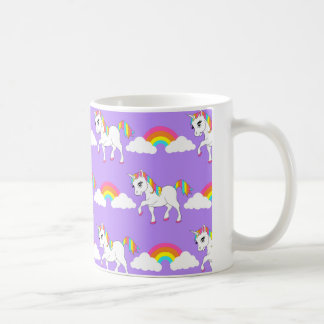 Cute Unicorn and Rainbows Mug