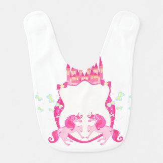 cute unicorn baby bib