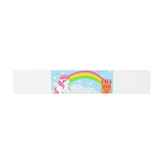 cute unicorn Belly Bands Invitation Belly Band