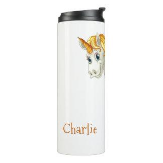 Cute Unicorn custom name tumbler