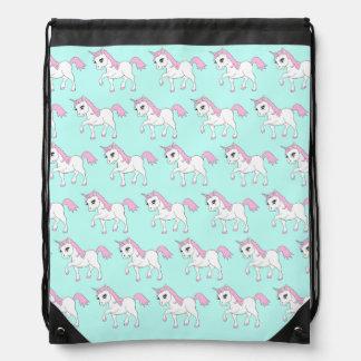 Cute Unicorn Design Pull String Bag Back Pack