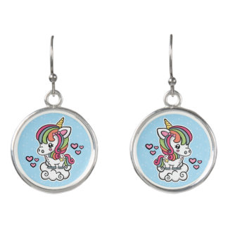 Cute Unicorn drop earrings