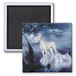 Cute Unicorn Fantasy 1 Square Magnet