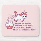 Cute Unicorn Fart Mouse Mat